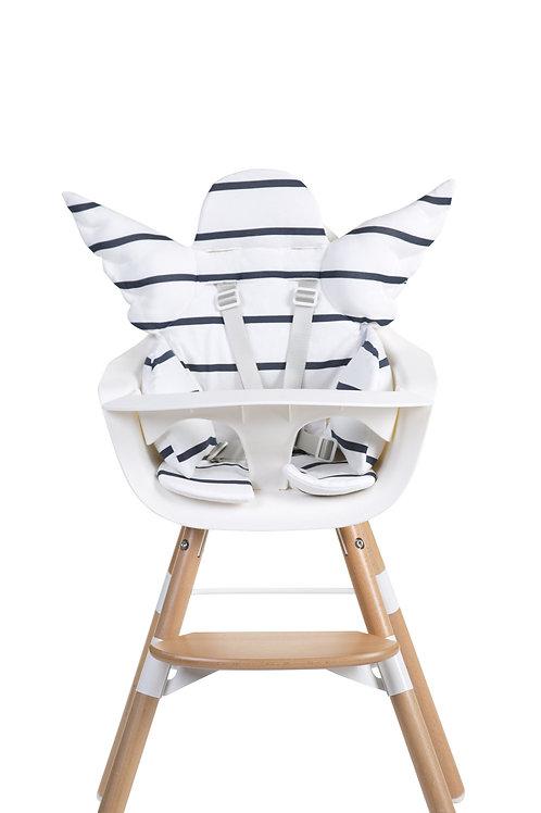 Coussin de chaise haute universel jersey ange marinière - Childhome