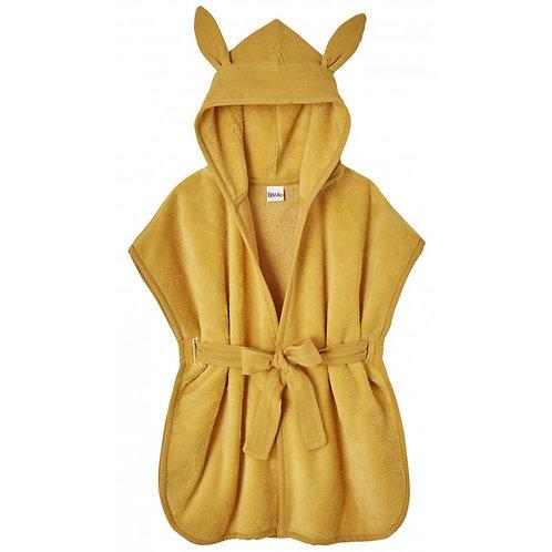 Peignoir bébé bambou et gaze de coton moutarde - BB&Co