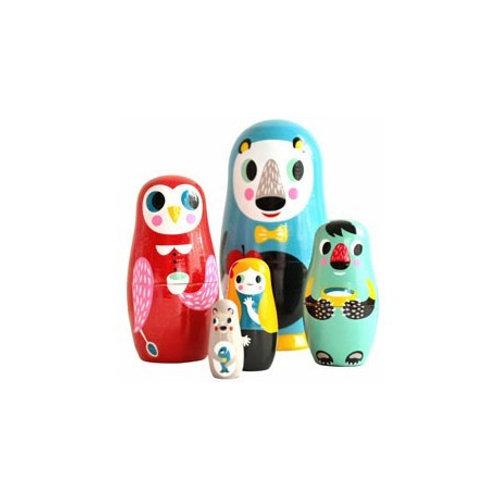 "Poupées russes ""in the wood"" - Petit Monkey"