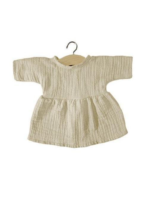 Robe Faustine en coton double gaze écru