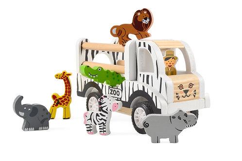 Voiture Zoo en bois
