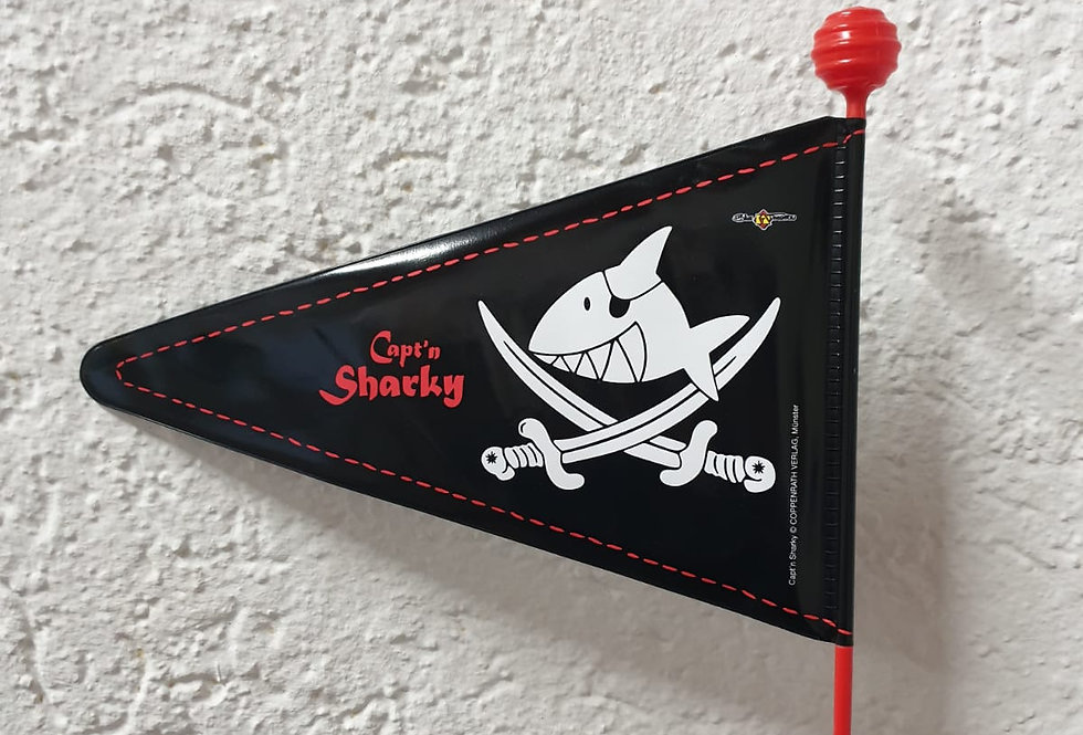 """BIKE FASHION Sicherheitswimpel """" Captain Sharky"""""""