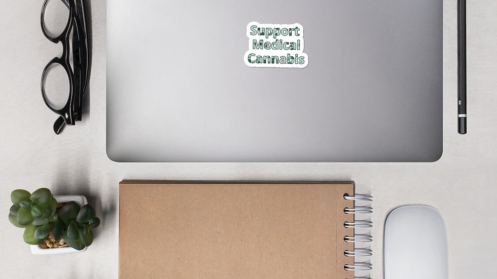 """""""Support Medical Cannabis"""" Bubble-free stickers"""