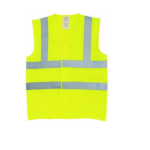 YK016 YOKO Flame-retardant hi-vis sleeveless waistcoat (HVW100FR)