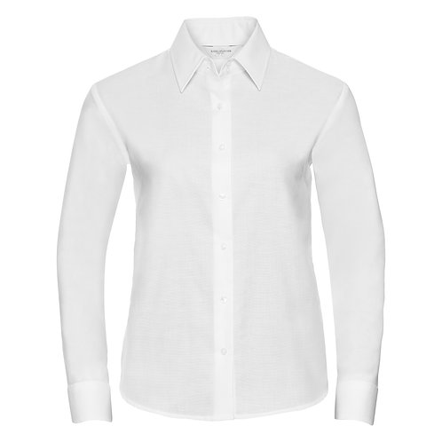 J932F Russell Women's long sleeve easycare Oxford shirt