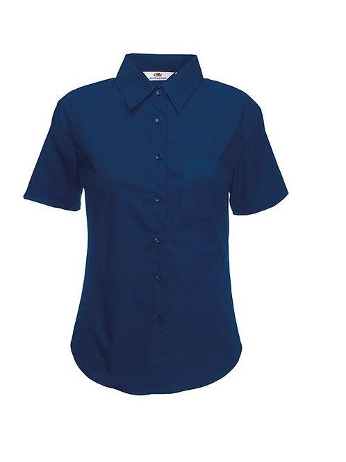 SS014 FOTL Ladyfit poplin short sleeve shirt