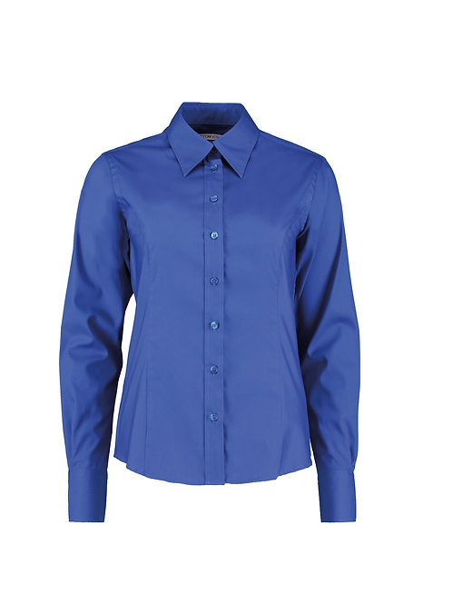 KK702 Kustom Kit Women's corporate Oxford blouse long-sleeved (tailored fit)