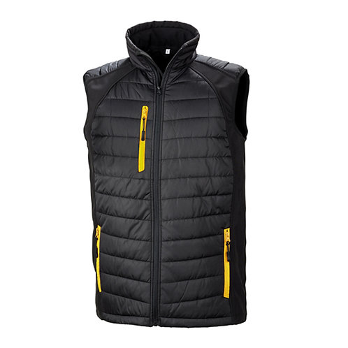 R238X Result Black compass padded softshell gilet