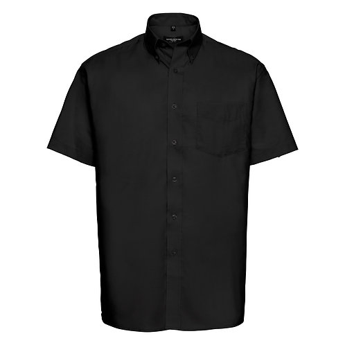 J933M Russell Short sleeve easycare Oxford shirt