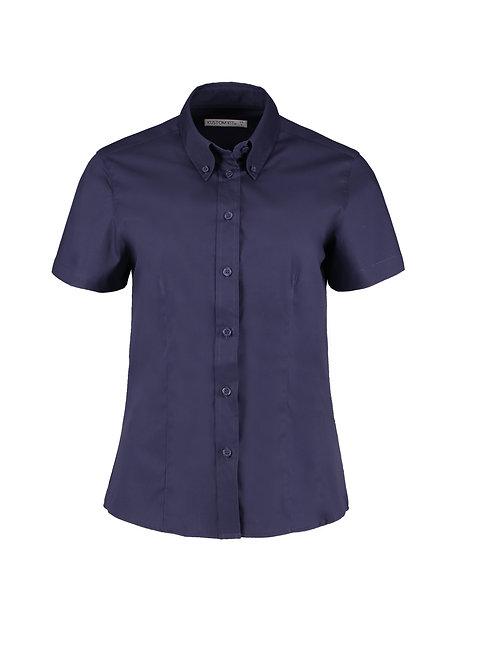 KK701 Kustom Kit Women's corporate Oxford blouse short-sleeved (tailored fit)