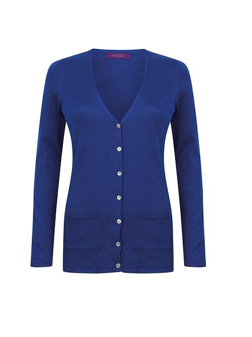 HB723 Henbury Women's v-button cardigan