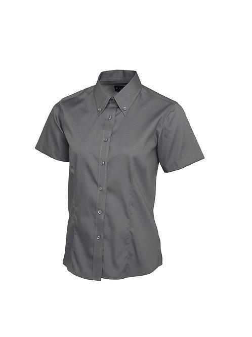 UC704 Uneek Ladies Pinpoint Oxford Half Sleeve Shirt