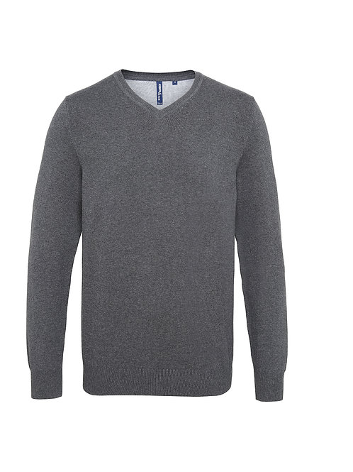 AQ042 Asquith & Fox Men's cotton blend v-neck sweater