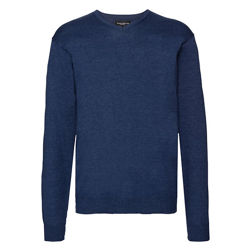 J710M Russell V-neck knitted sweater