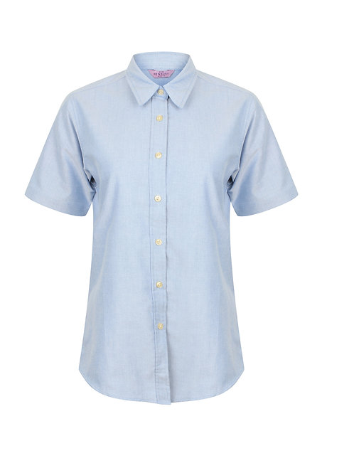 HB516 Henbury Women's short sleeve classic Oxford shirt