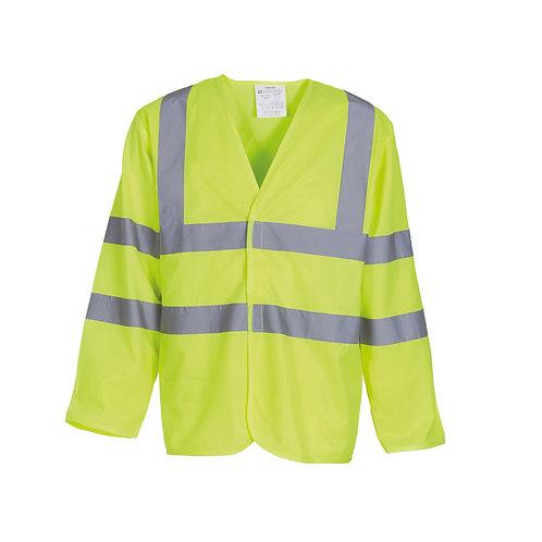 YK007 YOKO Hi-vis long sleeve waistcoat (HVJ200)