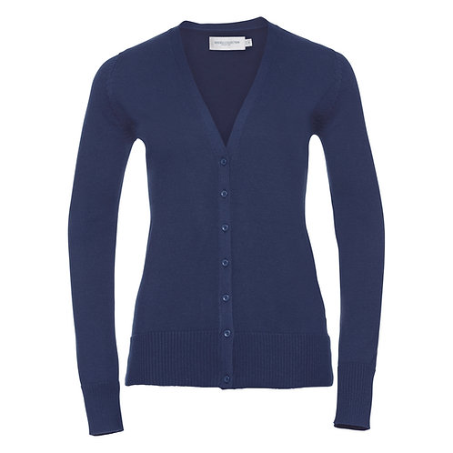 J715F Russell Women's v-neck knitted cardigan