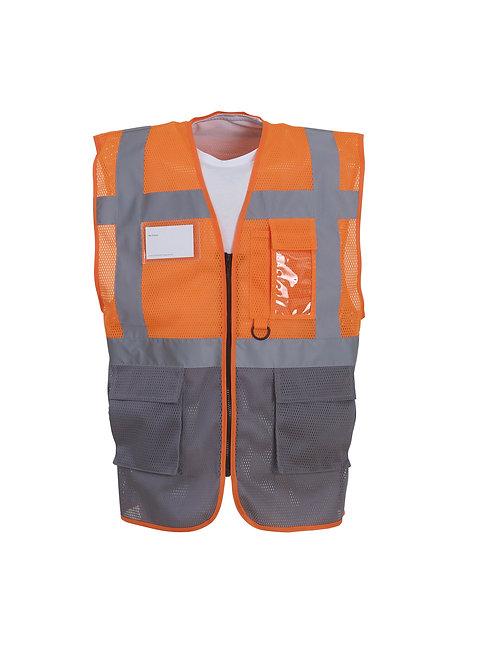 YK015 YOKO Hi-vis top cool open-mesh executive waistcoat (HVW820)