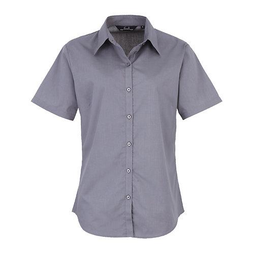 PR302 Premier Women's short sleeve poplin blouse