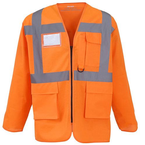 YK014 YOKO Hi-vis executive long sleeve waistcoat (HVJ800)