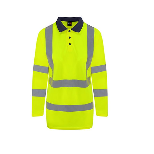 RX715 Pro RTX High visibility long sleeve polo