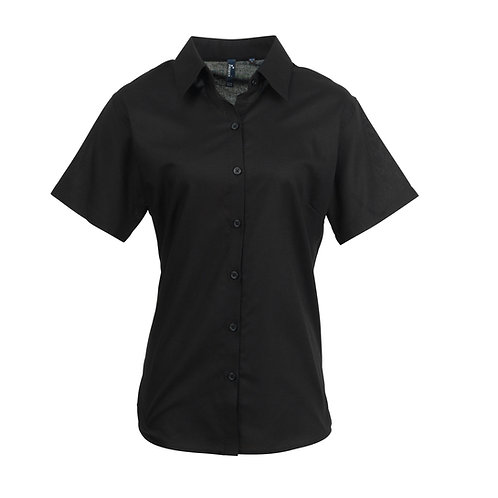 PR336 Premier Women's signature Oxford short sleeve shirt