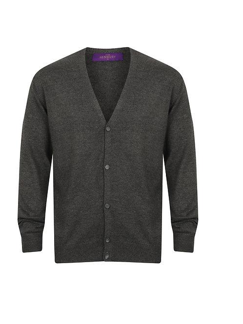 HB722 Henbury V-button cardigan