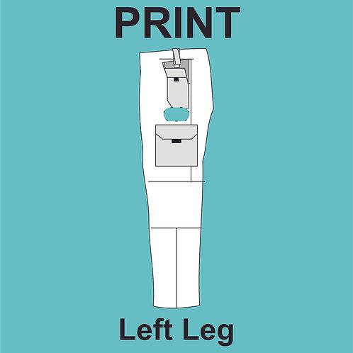 Left Leg Print