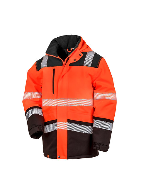 R475X Result Printable softshell safety coat