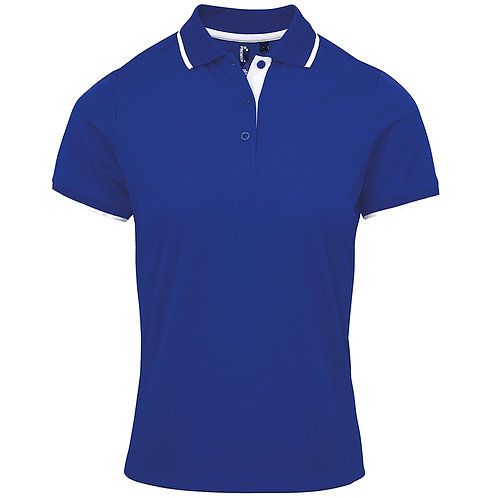 PR619 Premier Women's contrast Coolchecker® polo