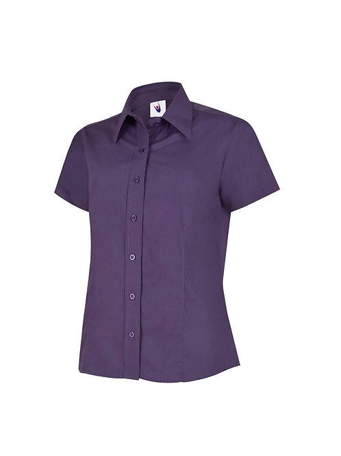 UC712 Uneek Ladies Poplin Half Sleeve Shirt