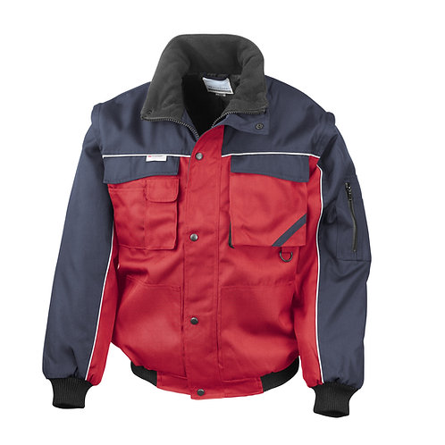 RE71A Result Work-Guard zip sleeve heavy-duty pilot jacket