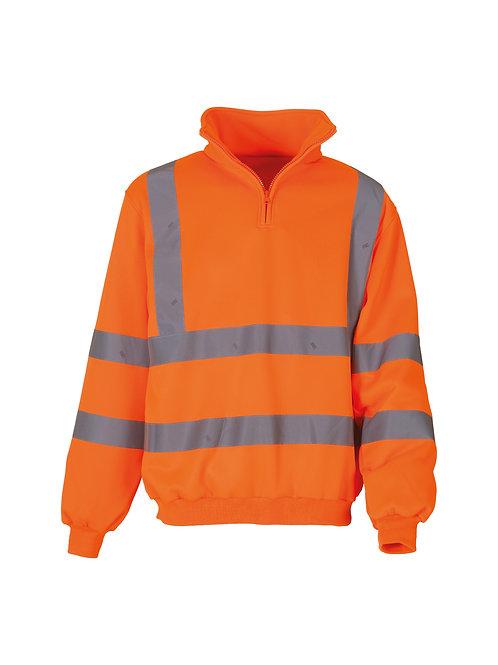 YK031 YOKO Hi-vis ¼ zip sweatshirt (HVK06)