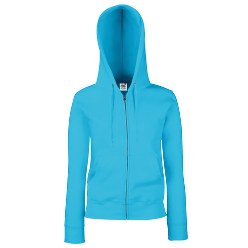 SS312 FOTL Women's premium 70/30 hooded sweatshirt jacket