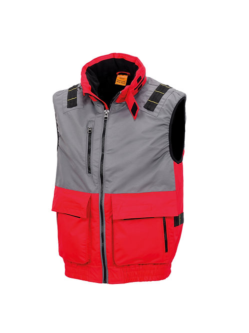 R335X Result Work-Guard x-over microfleece lined gilet