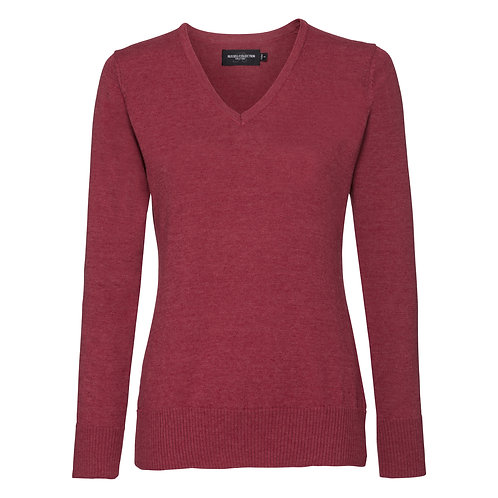 J710F Russell Women's v-neck knitted sweater