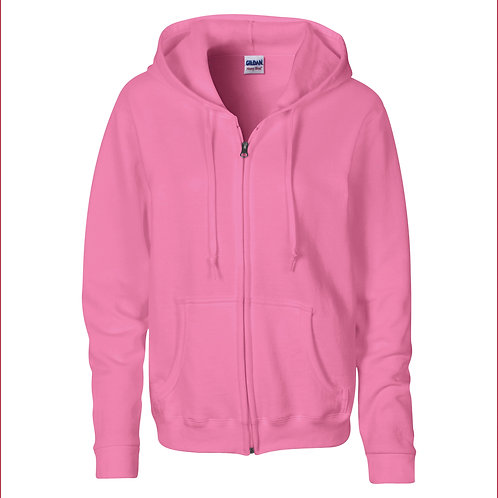 GD080 Gildan Women's Heavy Blend™ full zip hoodie