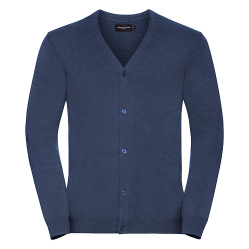 J715M Russell V-neck knitted cardigan