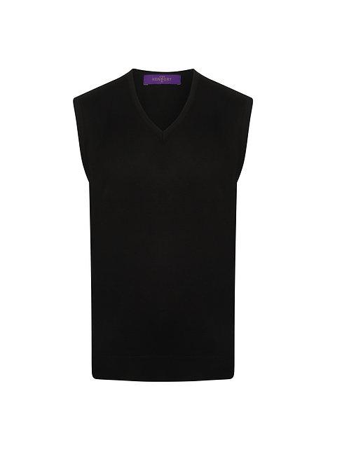 HB724 Henbury Sleeveless v-neck jumper
