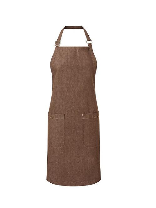 PR113 Premier Cotton denim bib apron, organic and Fairtrade certified