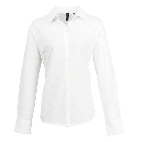PR334 Premier Women's signature Oxford long sleeve shirt