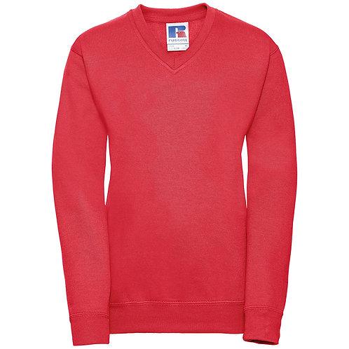J272B Russell Kids v-neck sweatshirt