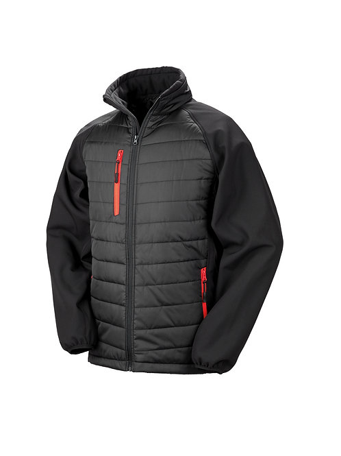 R237X Result Black compass padded softshell jacket
