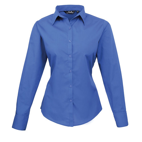 PR300 Premier Women's poplin long sleeve blouse