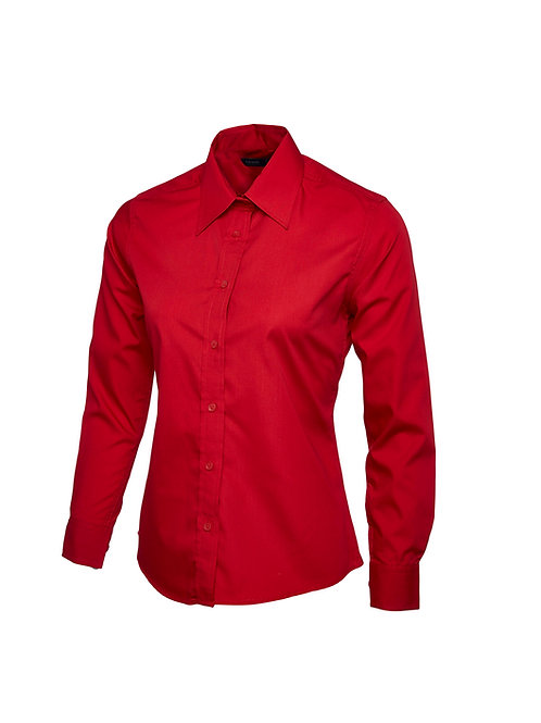 UC711 Uneek Ladies Poplin Full Sleeve Shirt