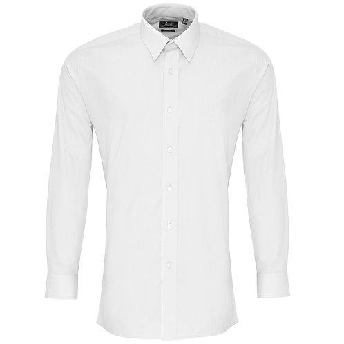 PR204 Premier Poplin fitted long sleeve shirt