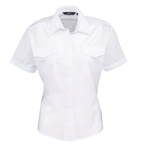 PR312 Premier Women's short sleeve pilot blouse
