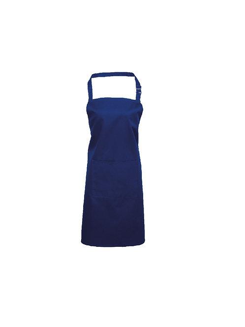 PR154 Premier Colours bib apron with pocket