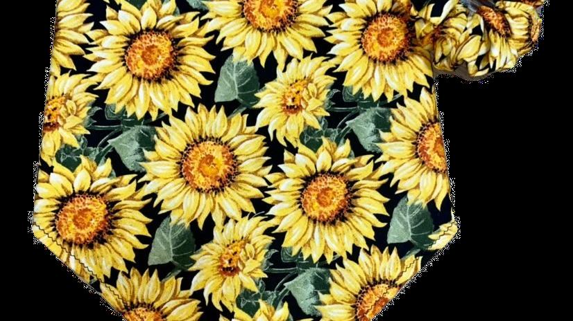Sunflower Bandana + Scrunchie Set