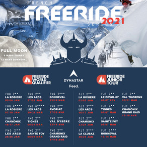 Calendrier officiel French Freeride Series édition 2021
